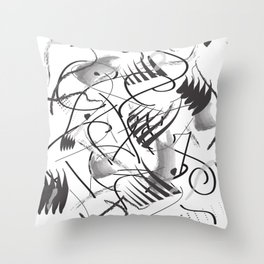 Black and White art work Throw Pillow