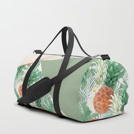 Combined pattern with pineapples. patchwork. Duffle Bag