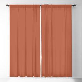 Deep Pumpkin Orange Velvet Solid Color Parable to Pantone Mango 17-1446 Blackout Curtain