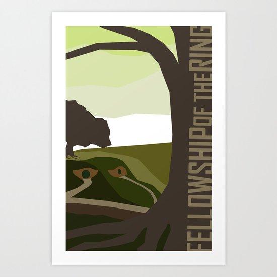 Minimalist - Fellowship of the Ring Art Print