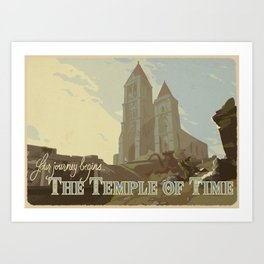 Temple of Time Art Print