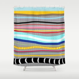 Bold stripes,breezy and beautiful,Striped Contemporary world's cute fashion Shower Curtain