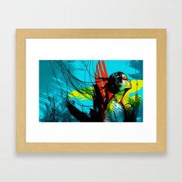 on air Framed Art Print