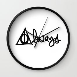 Always, Deathly Hallows, Harry Potter Wall Clock