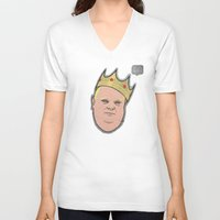 ford V-neck T-shirts featuring Rob Ford by Ric_Hardwood