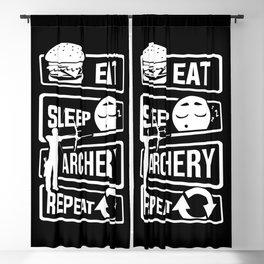 Eat Sleep Archery Repeat - Archery Arrow Bow Hunt Blackout Curtain