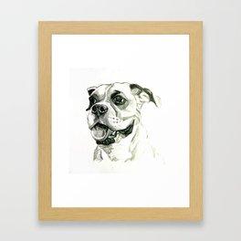 Smiling Boxer Boy Oscar Framed Art Print