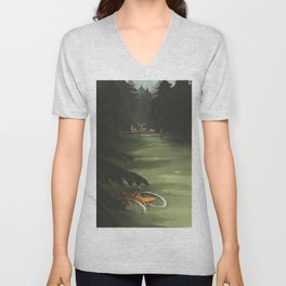 Gone for a ride BRB - 07 Unisex V-Neck