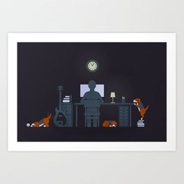 Night Work Art Print