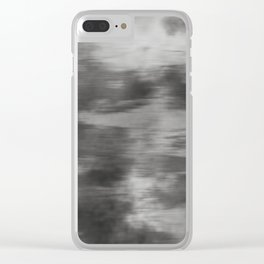 Fusion Abstract Watercolor Blend Pantone Pewter / Fluid Art Ink Clear iPhone Case