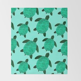 Turtle Totem Throw Blanket