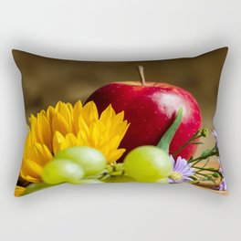 An autumn gifts still life on the blurred background Rectangular Pillow