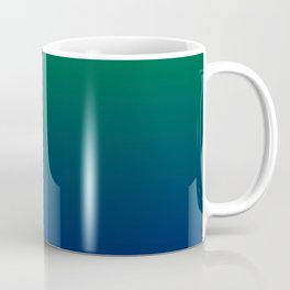Green to Blue Gradient Coffee Mug