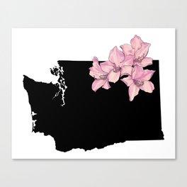 Washington Silhouette Canvas Print