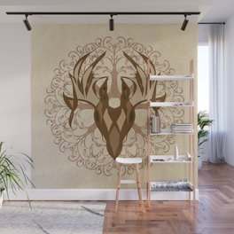 Fall Deer and Tree Wall Mural