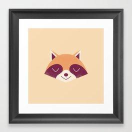 Minimal Racoon Framed Art Print