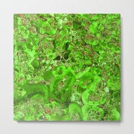 Marble Emerald Green Metal Print
