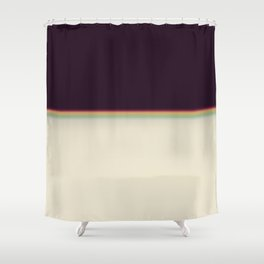 Retro rainbow#leak#light#effect Shower Curtain