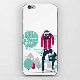 Let's skate  iPhone Skin