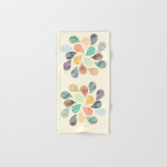Colorful Water Drops (Watercolor version)  Hand & Bath Towel
