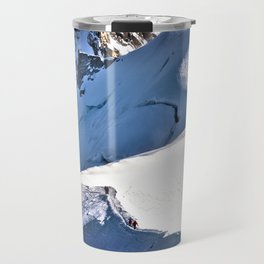 Mont Blanc, hikers, France. Travel Mug