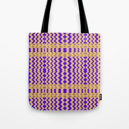 Bright Purple Yellow Wavy Lines Tote Bag