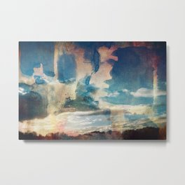 Spray Painting the Sunset Metal Print
