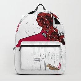 I am not a Princess I'm a Rockstar Guitar Punk Skull  Design Backpack