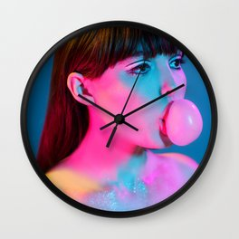 Bubblegum Yum Pop Wall Clock