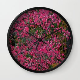 Dazzled by Red Wall Clock
