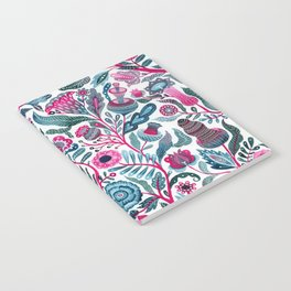 Endlessly growing - pink and turquoise Notebook