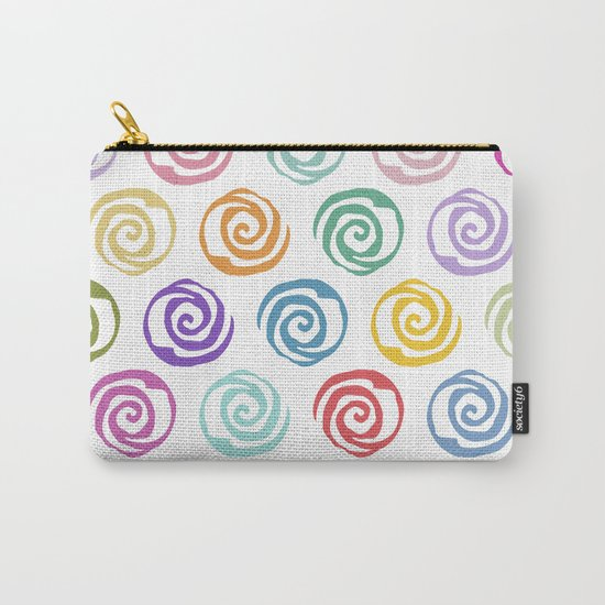 Circles Abstract Seamless Pattern Carry-All Pouch