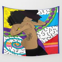 hat Wall Tapestries featuring Hat by TheArtGoon