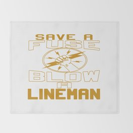 Blow a Lineman Throw Blanket