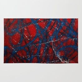 Red, White and Blue Spatter Rug