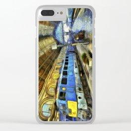 Vincent Van Gogh Railway Station Clear iPhone Case