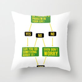 Troubleshooting Do not worry dont worry Gift Throw Pillow