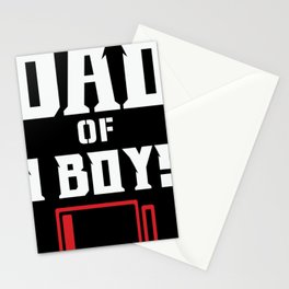 Dad of 3 Boys Stationery Cards