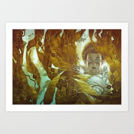In the Kelp Forest Art Print