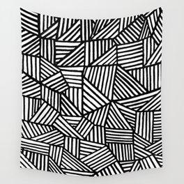 Black Brushstrokes Wall Tapestry