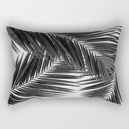 Palm Leaf Black & White III Rectangular Pillow