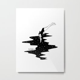 dive into the space Metal Print