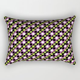 Multicolor Checkboxes Rectangular Pillow