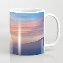 Blue Dreams Sunset - Ocean Sunset, Landscape, Scenery, Beautiful Orange Yellow Coffee Mug