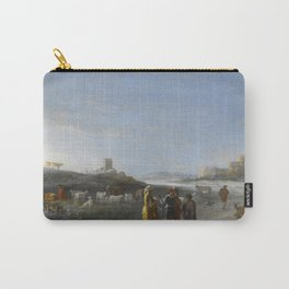 An Italianate Landscape with an unidentified subject from the Old Testament, Cornelis van Poelenburc Carry-All Pouch