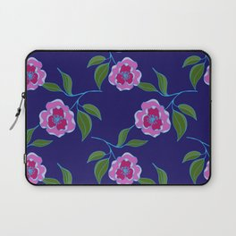 Peony Floral Floating Pattern Laptop Sleeve
