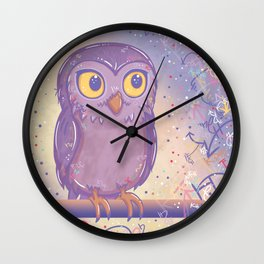 Enchanting Little Owl Wall Clock