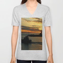 The End Of A Beautiful Day Unisex V-Neck