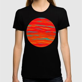 Ripped Turquoise Sunset Sky T-shirt