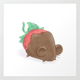 Chocolate Strawberry Mouse Art Print